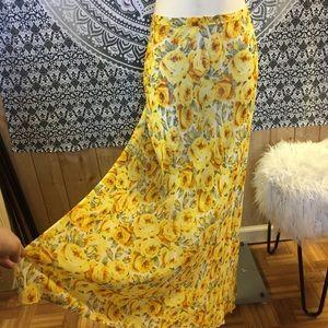 Vintage 90s Betsey Johnson Maxi floral skirt BoHo